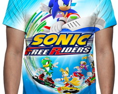 Camiseta Game Sonic Free Riders - Estampa Total