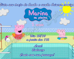 CONVITE PEPPA NA PISCINA DIGITAL