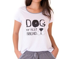 PIJAMA SHORT DOLL FEMININO ADULTO com SHORTS MOLETINHO Dog