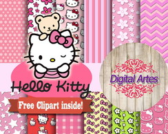 Kit Digital Papéis Hello Kitty