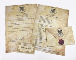 Carta de Hogwarts - Harry Potter Personalizável
