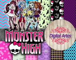 Kit Digital Papéis MonsterHigh