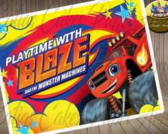 Blaze and Monster Machines Papel de Arroz A4 para Bolos