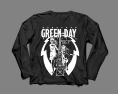 Manga Longa Masculina Green Day Revolution Radio #2