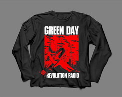 Manga Longa Feminina Green Day Revolution Radio #1
