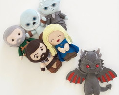 Bonecos de Feltro- Poketts GAME OF THRONES