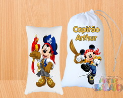 Kit Naninha Mickey Pirata Fofas 15x25cm