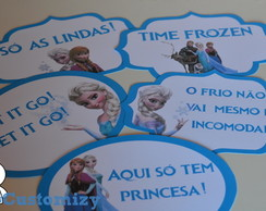 Placas divertidas para Fotos Frozen