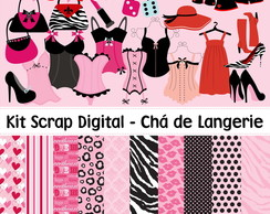Kit Scrap Digital - Chá de Langerie