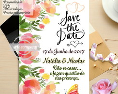 Convite Save The Date Floral
