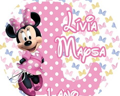 Tags para Topper Minnie Rosa
