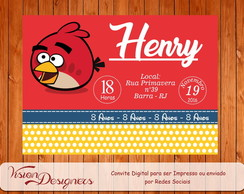 Convite Digital - Angry Bird