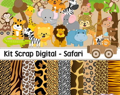 Kit Scrap Digital - Safari