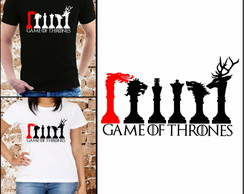 Camiseta Game of Thrones - Xadrez