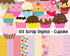 Kit Scrap Digital - Cupcake