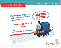Convite Digital Thomas & Friends