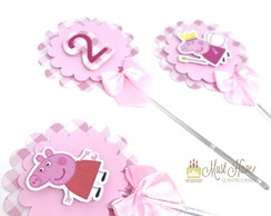 Toppers para doces Peppa ou George Pig