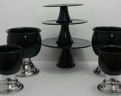 kit 2 Trio de doceira+ 4 vaso mini + 4 vaso P