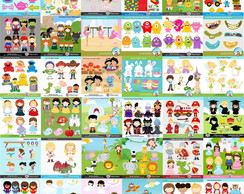 Kits Digitais Scrapbook - Clipartopia - Mais de 90 kits.