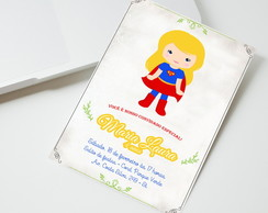 Convite Digital Super Girl
