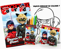 Kit Colorir Miraculous Ladybug massinha personalizado