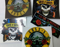 Kit 5 Adesivo Rock Guns N´roses Axl Rose