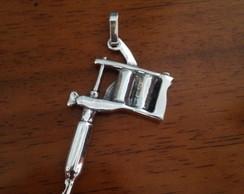 bb921b7704833 ... Pingente MAQUINA DE TATOO em prata 925