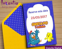 Save the Date Digital Galinha Pintadinha Menino