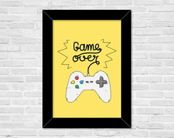 Quadro A4 Game Over