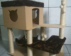 Casa Cubo Big cat com arranhadores para gatos