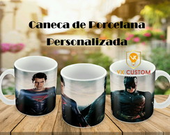 Caneca de Porcelana Batman VS Superman