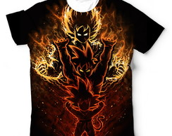 Camisetas Camisa Goku Transformações Dragon Ball Z