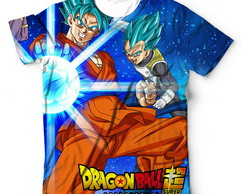 Camiseta Camisa Dragon Ball Super Goku E Vegeta - Anime