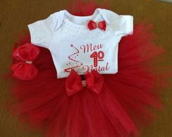 Kit Natal Sainha tutu + Tiara + Body