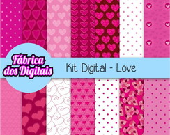 Kit Papel Digital - Amor 1