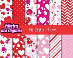 Kit Papel Digital - Amor 2