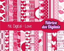 Kit Papel Digital - Amor 3