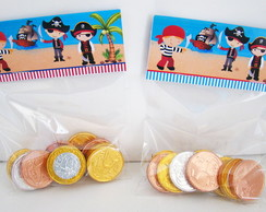 "Moedas de chocolate ""Piratas"""