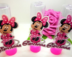 KIT MINNIE ROSA LATINHA/ENFEITE/TUBETE 30 PCS