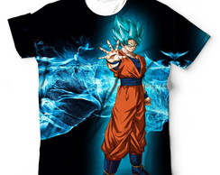 Camisa Camiseta Dragon Ball Super Goku Ssj Blue