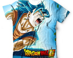 Camisa Camisetas Dragon Ball Super Vegito Super Saiyan Blue