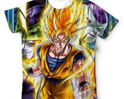 Camiseta Camisa Dragon Ball Z Freeza Ceel Goku