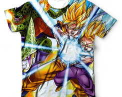 Camiseta Camisa Dragon Ball Z Freeza Cell Goku