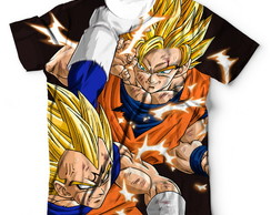 Camisa Camiseta Blusa Dragon Ball Z Goku Vs Vegeta