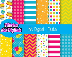 Kit Papel Digital - Festa