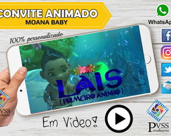 VÍDEO CONVITE VIRTUAL ANIMADO DA MOANA BABY