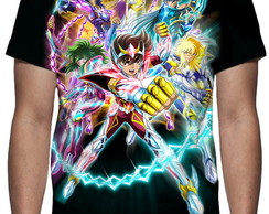 Camiseta Cavaleiros do Zodíaco Saint Seiya - Estampa Total
