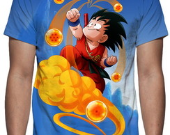 Camiseta Dragon Ball Z - Kid Goku - Estampa Total