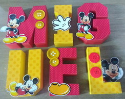 Letras Box 3D Mickey