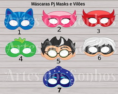 Máscaras PJmasks
